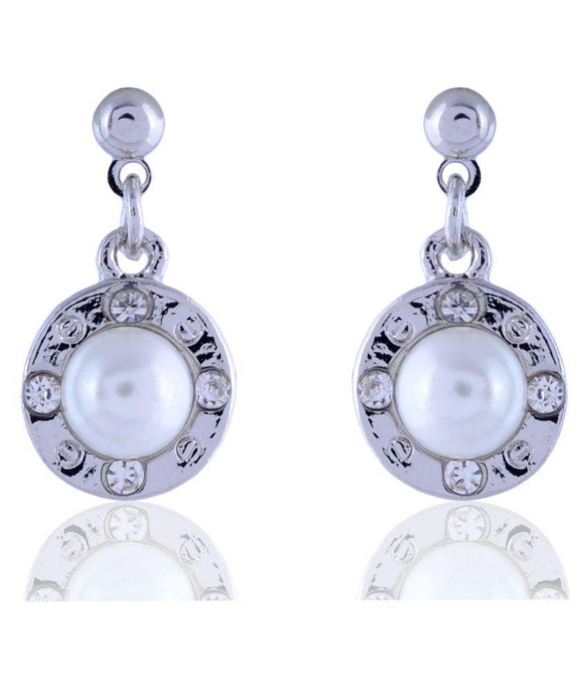 sanaya silver drop and dangle earrings for girls/women