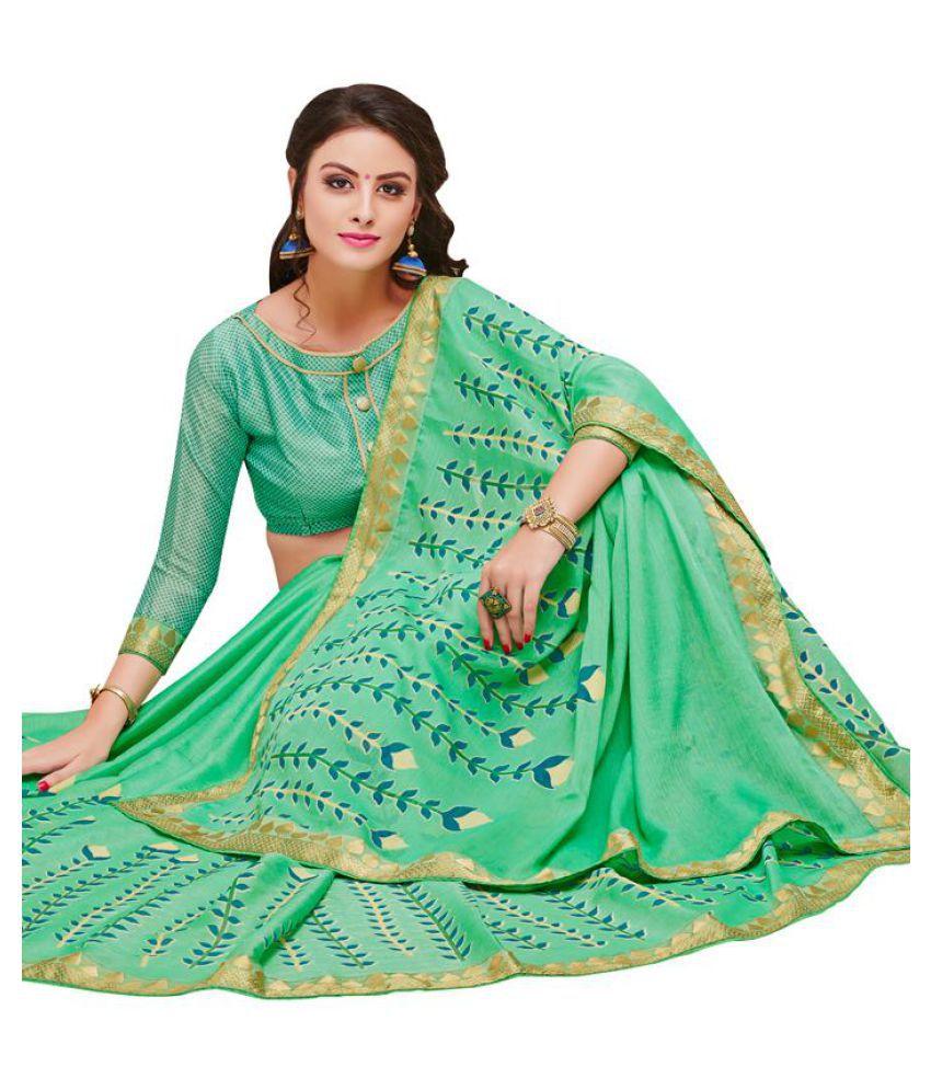 Kumaran Silks Green Georgette Saree