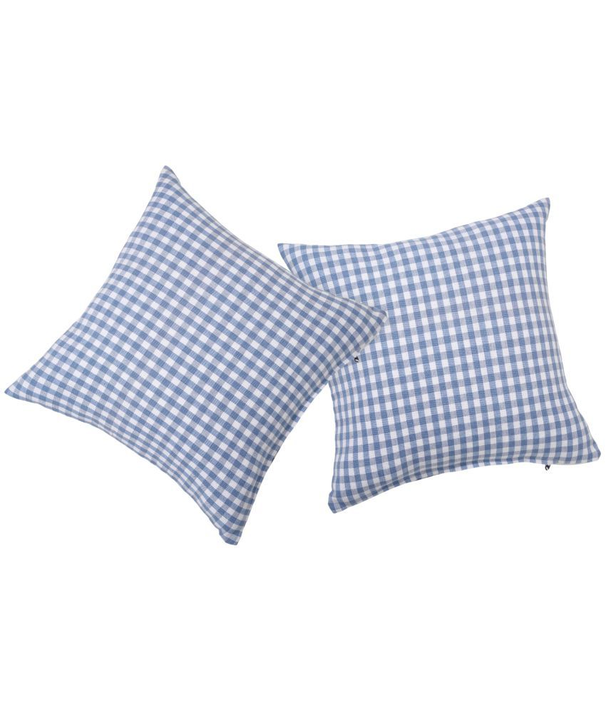 ROSARA HOME Set of 2 Cotton Cushion Covers 40X40 cm (16X16)
