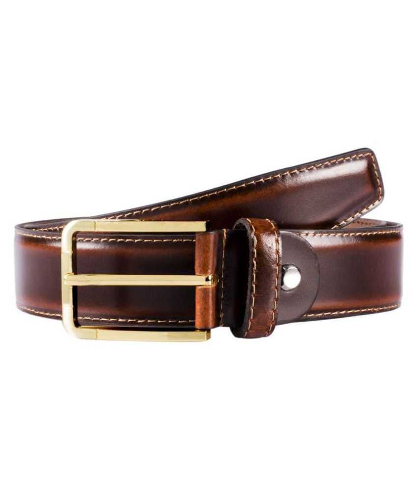 VENER FABICA Brown Leather Party Belts