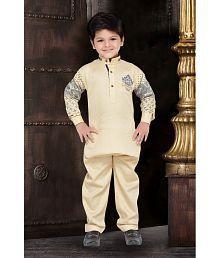 AJ Dezines Beige Pathani Suit