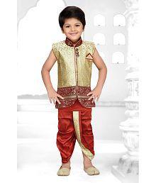 AJ Dezines Kids Angrakha Dhoti Kurta Set for Boys