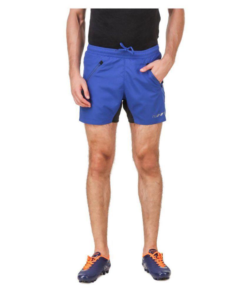 Nivia Blue Polyester Fitness Shorts-2311S2