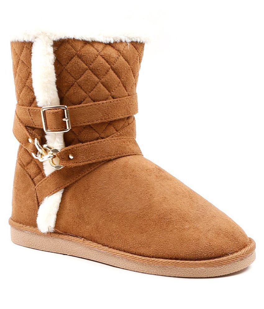 Carlton London Tan Ankle Length UGG Boots ...