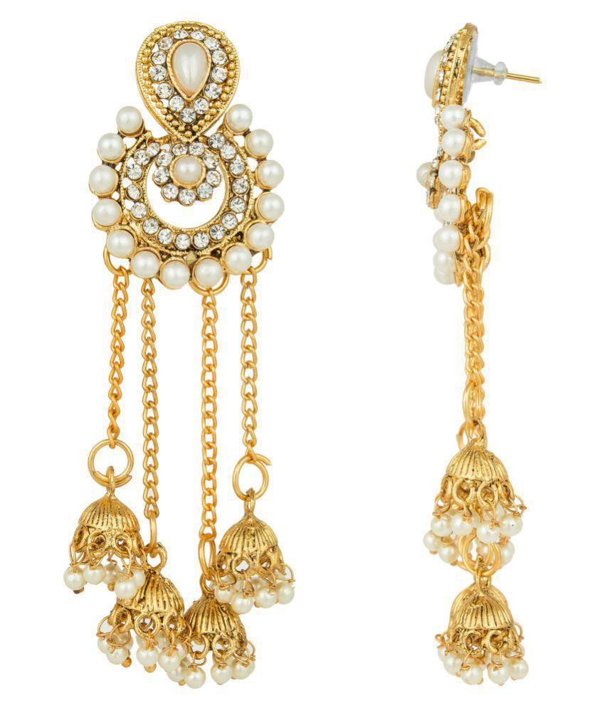 Pankh Polki Design Dangling Long Earrings Cfr 044