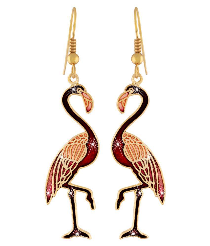 Jaaz Meenakari Designer Multi Color Fancy Dangler Hook Earring For Girls Ladies