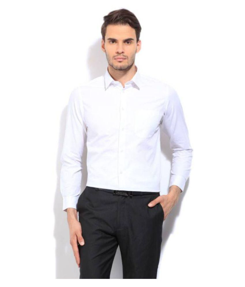 Integriti White Casual Slim Fit Shirt