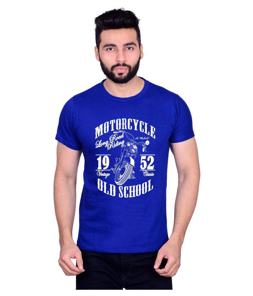 La Milano Blue Round T-Shirt