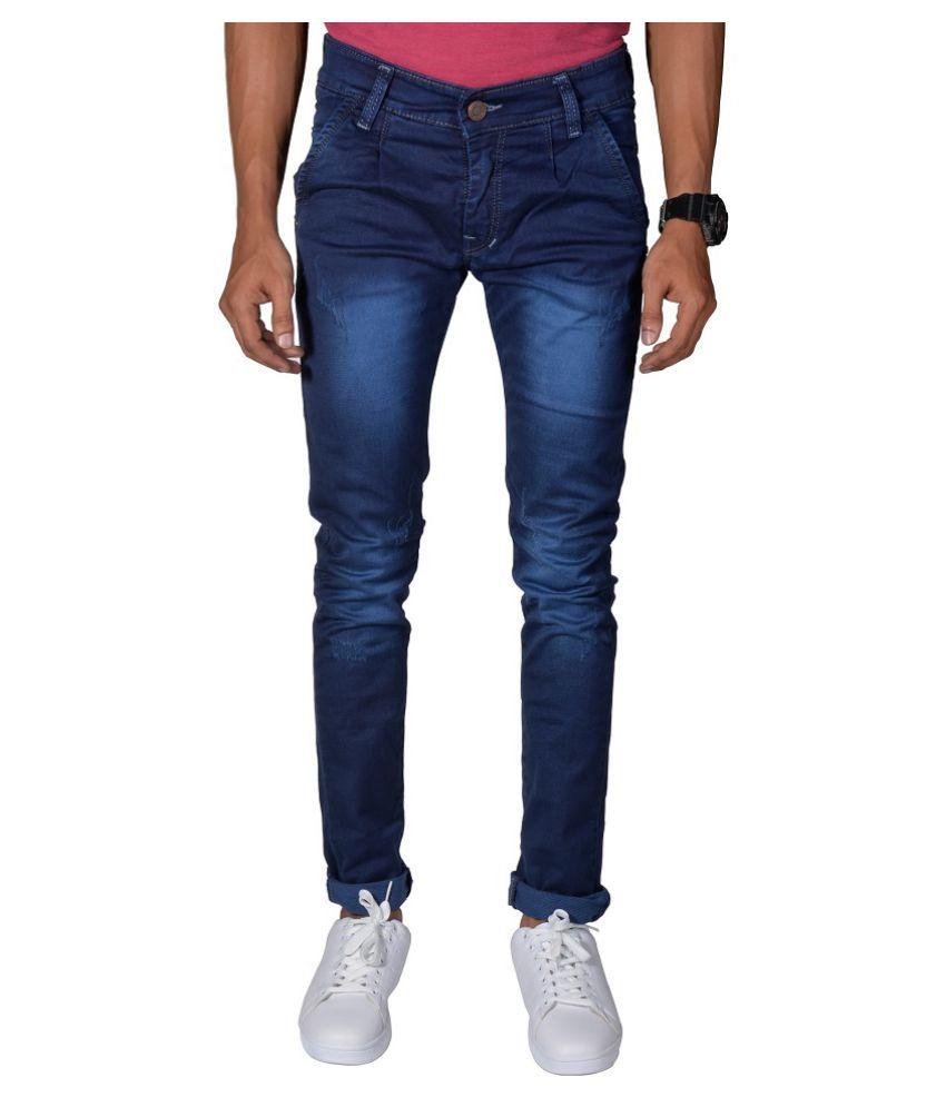 Noori Blue Regular Fit Jeans