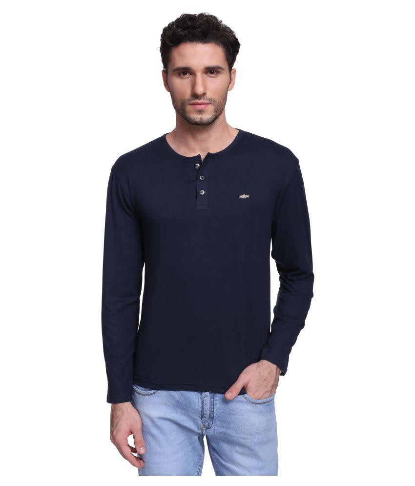 Illicit Nation Navy Henley T-Shirt