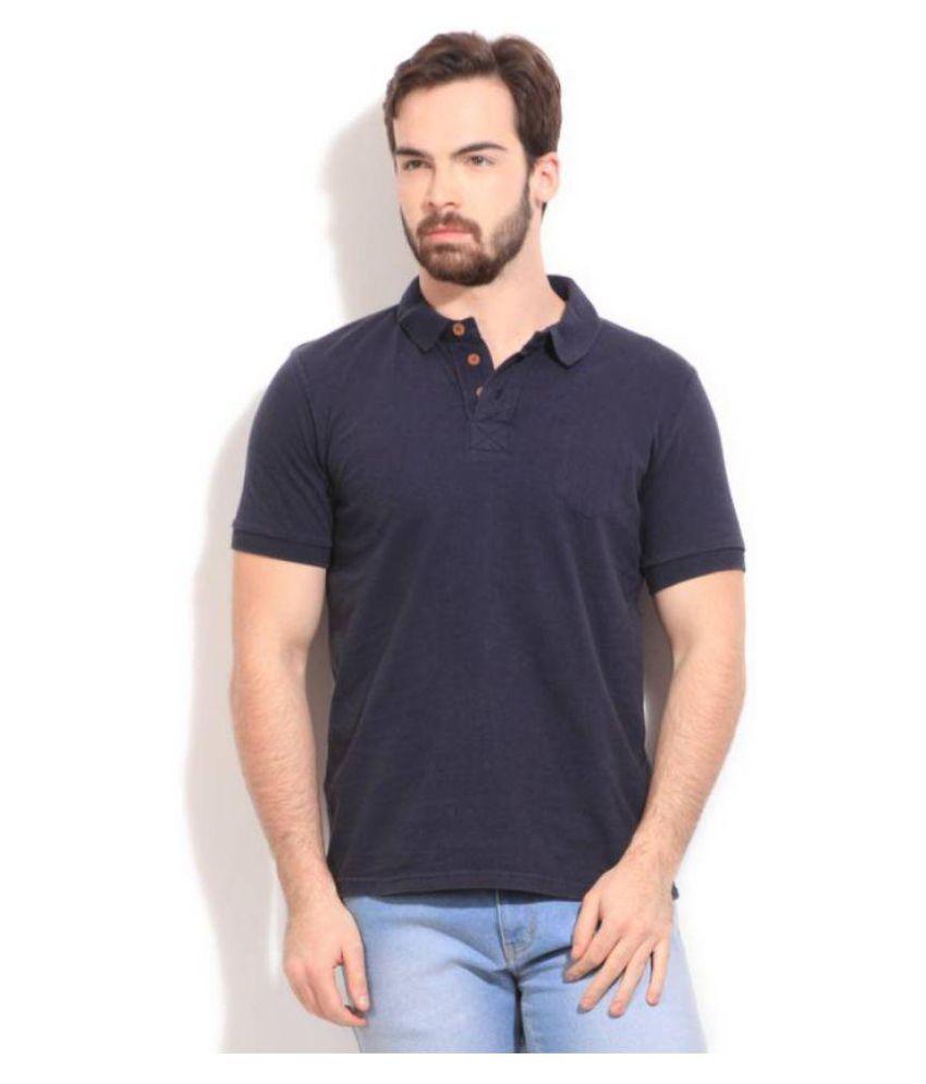 FORCA Blue High Neck T-Shirt