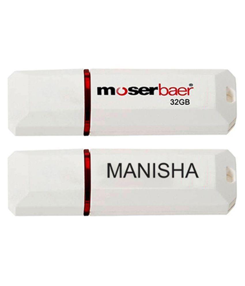 Moserbaer 32GB USB 2.0 Fancy Pendrive Single