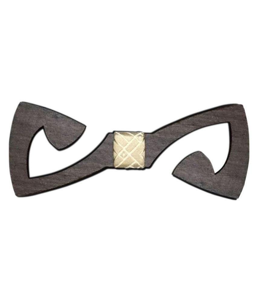 Visach Brown Plain Wooden Necktie