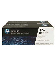 laserjet Hp 12A Black Toner Cartridge Pack of 2