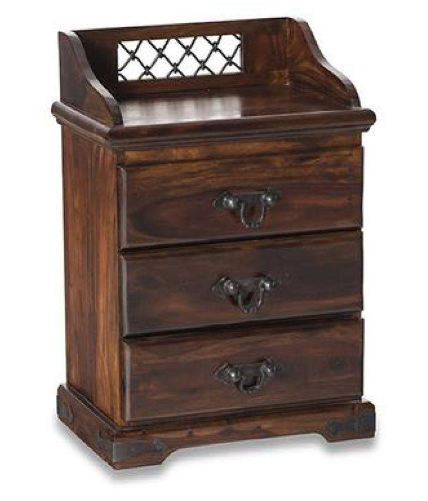 Ethnic India Art Solid Wood 3 Drawer Bedside