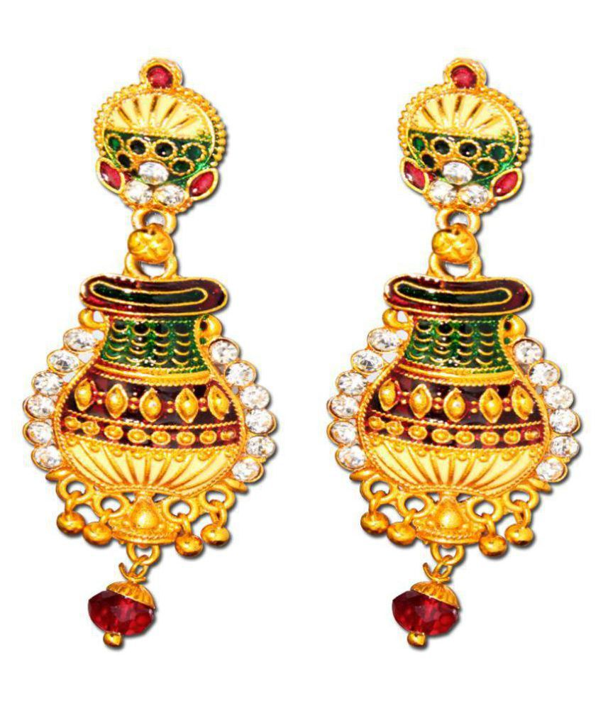 New Model Gold Plated Traditional Drop Earrings