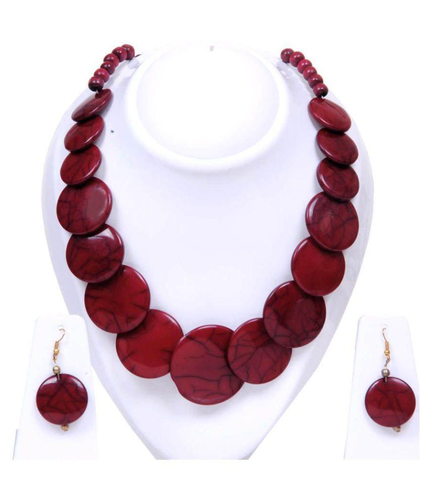 Twella Creations Maroon Necklace