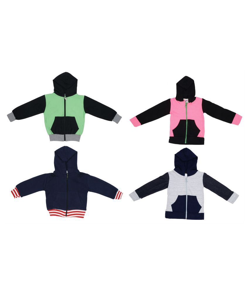 Indirang pack of 4 multicolored jackets for girls