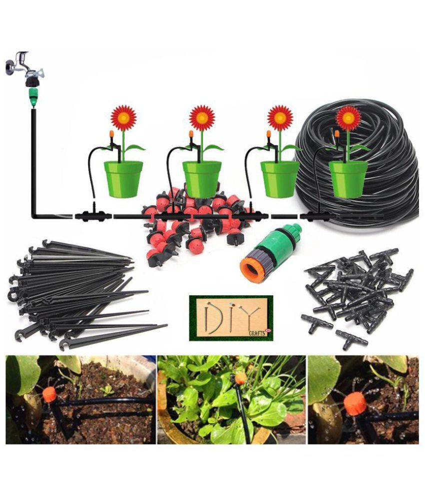 2set 60m hose micro drip irrigation system automatic water garden