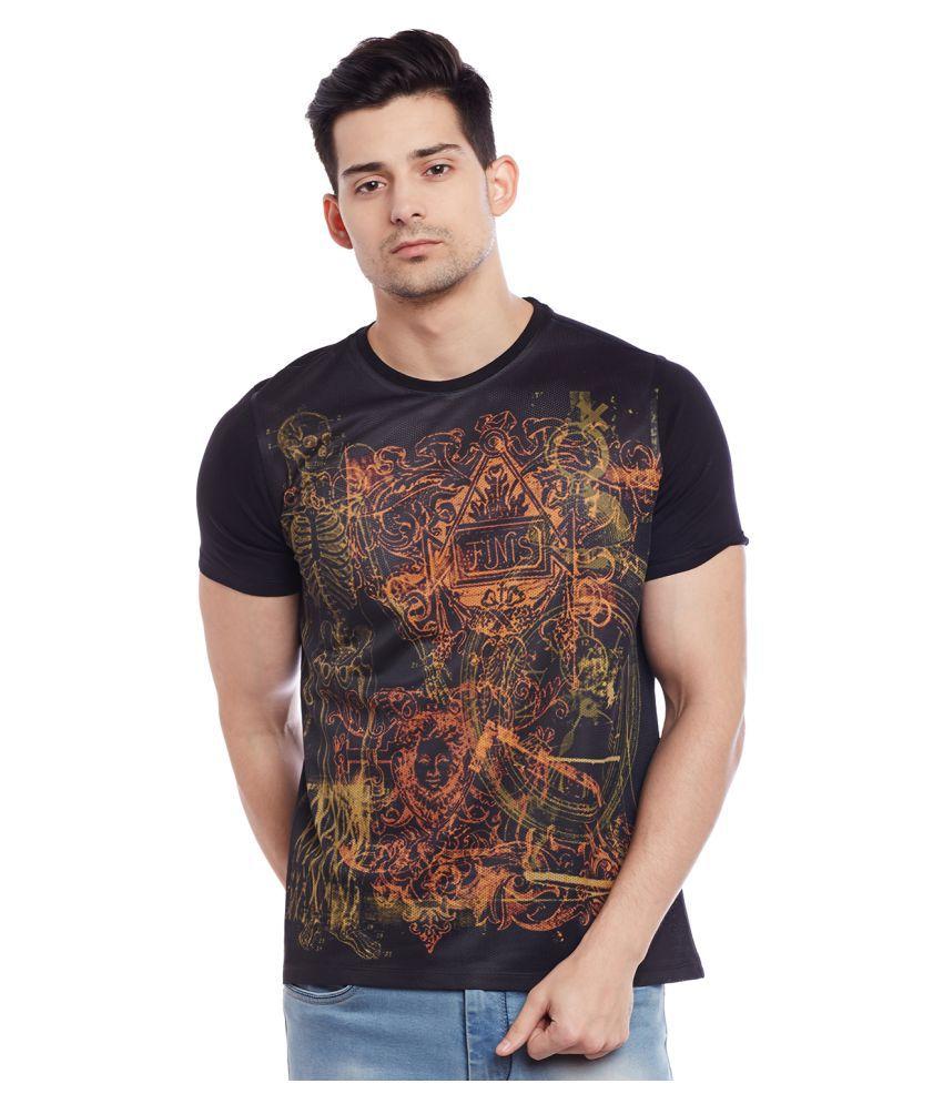 Wear Your Mind Black Round T-Shirt