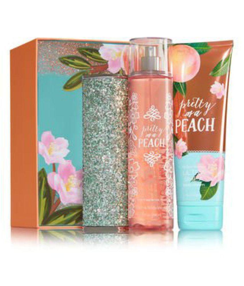 Bath Body Works Pretty As A Peach Springtime Sparkle Gift Set