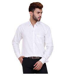 Zarkons White Casual Regular Fit Shirt