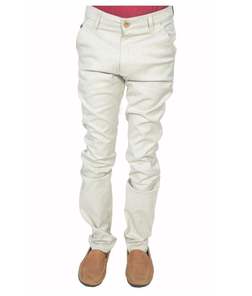 Leo Brown Slim -Fit Flat Trousers