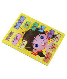 Vivir™ Wooden Face Parts Educational Puzzle Learning Toys For Kids (Girl)