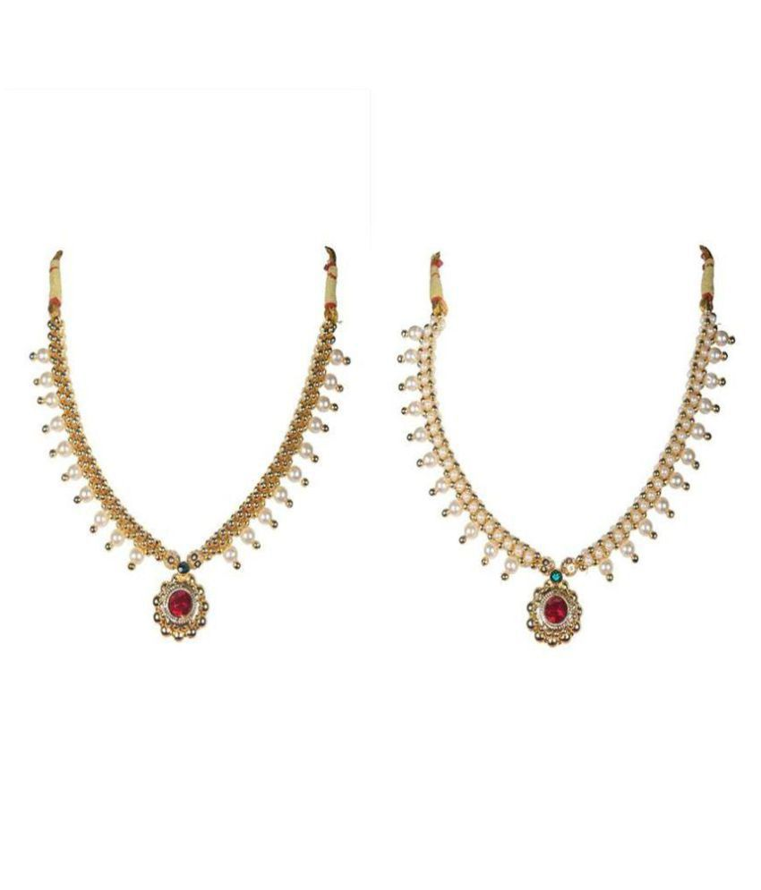 Soubhagya Jewellers Traditional Combo Of Moti Thushi