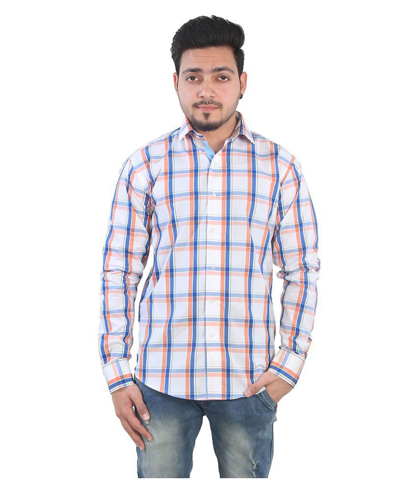 Just Differ Multi Casual Slim Fit Shirt