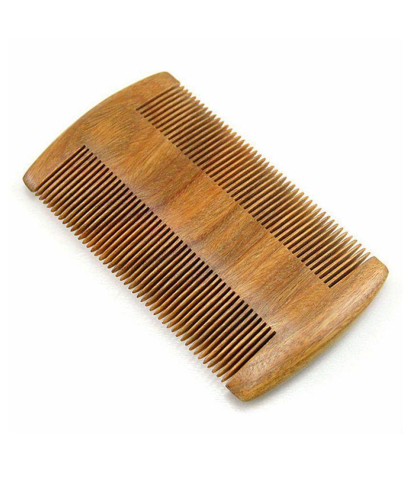 Majik World wooden beard comb Wide tooth Comb