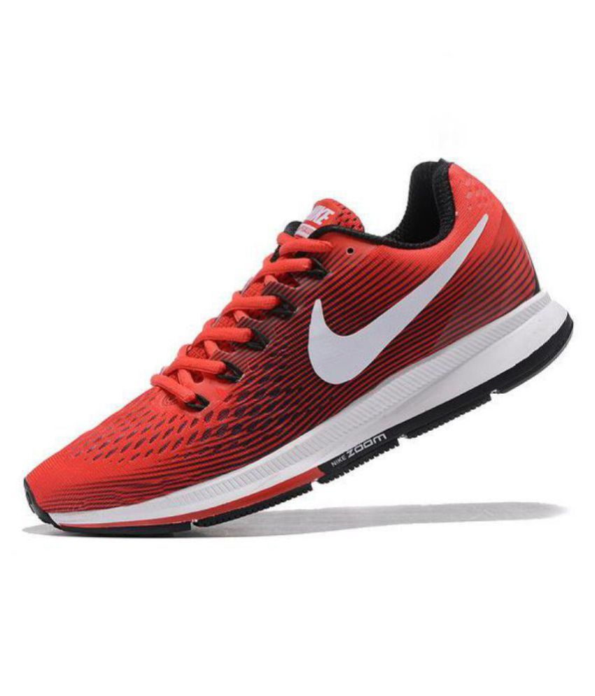 96383d1ca8f90 Nike AIR ZOOM PEGASUS 34 Red Running Shoes - Buy Nike AIR ZOOM PEGASUS 34  Red Running Shoes Online at Best Prices in India on Snapdeal