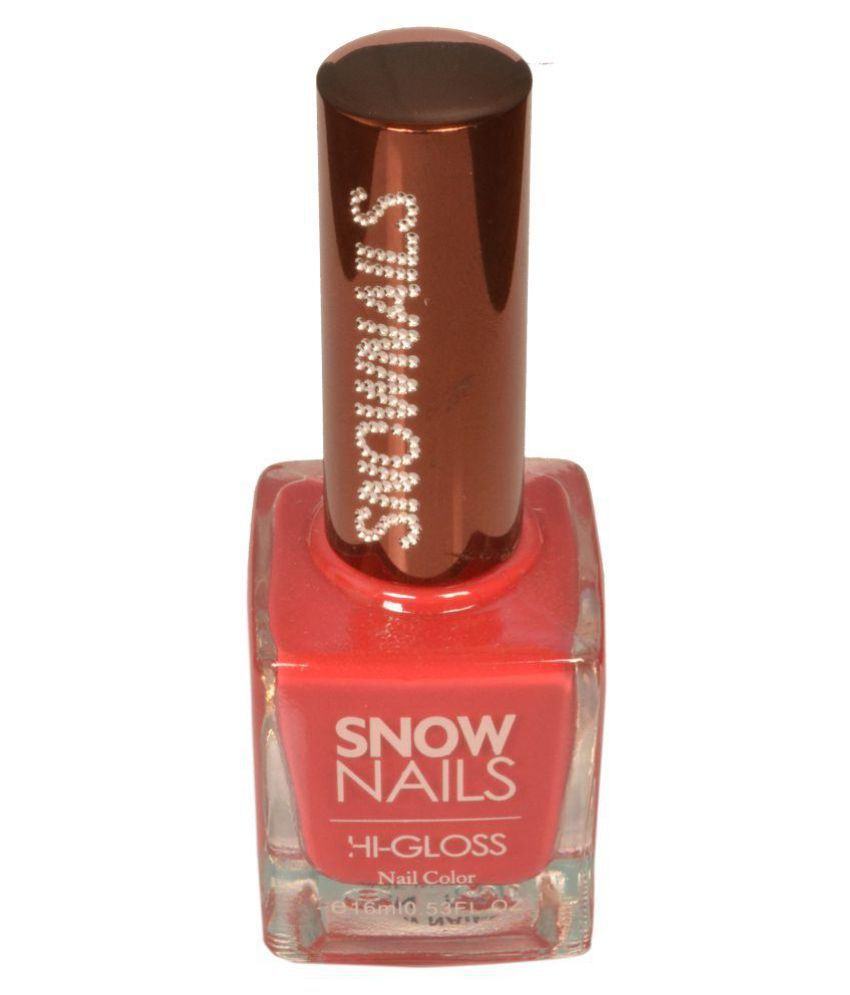 Snownails Snow Color Nail Polish SN52 Red Glossy 16 ml