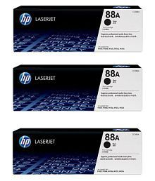 laserjet 88A Black Toner Cartridge Pack of 3