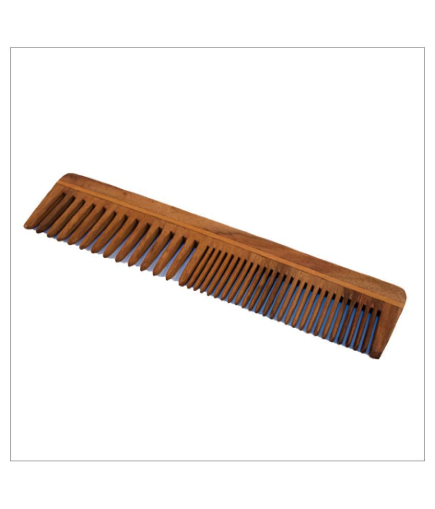 Majik World wooden comb multi purpose Wide tooth Comb