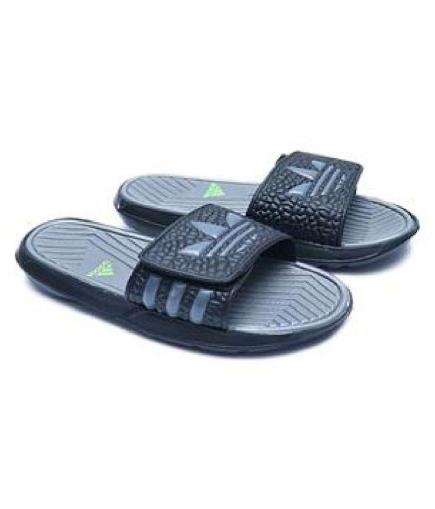 343cb0e8ec9 Adidas MEN S NEW SLIPPERS Black Slide Flip flop Price in India- Buy ...
