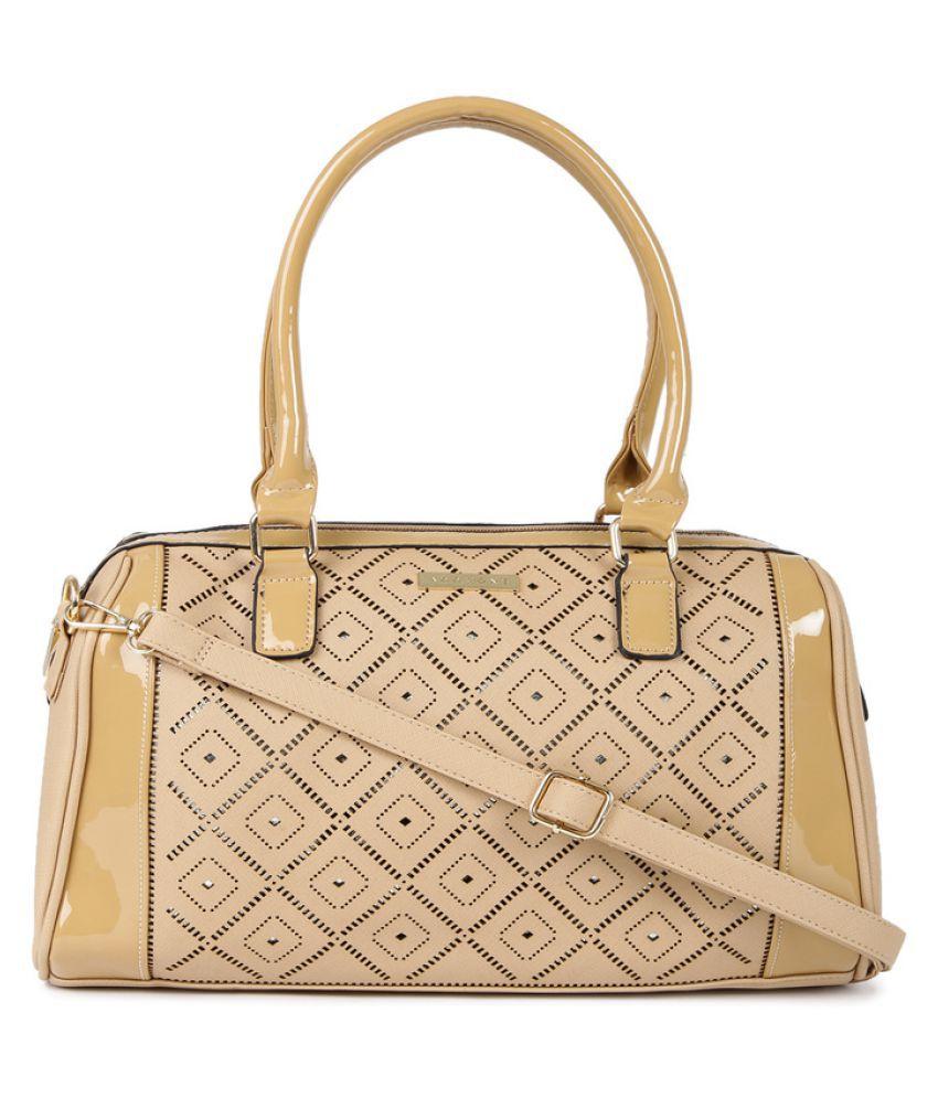 Addons Tan P.U. Shoulder Bag