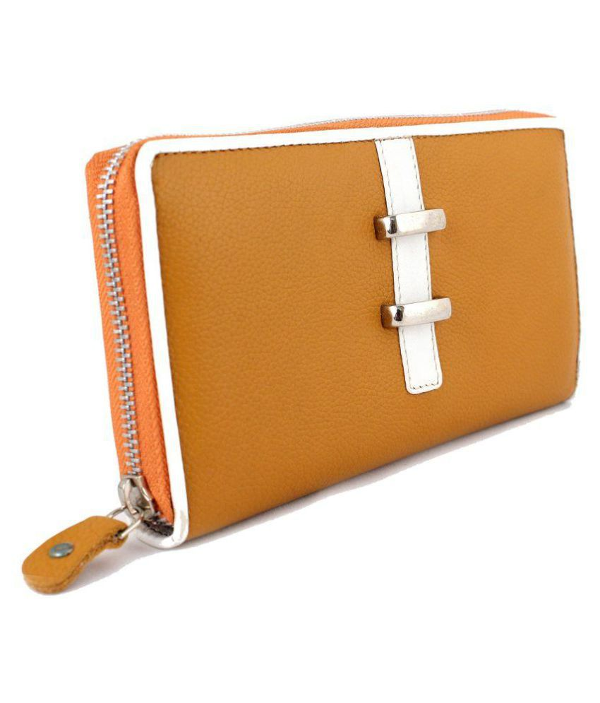 Imex Yellow Pure Leather Wristlet