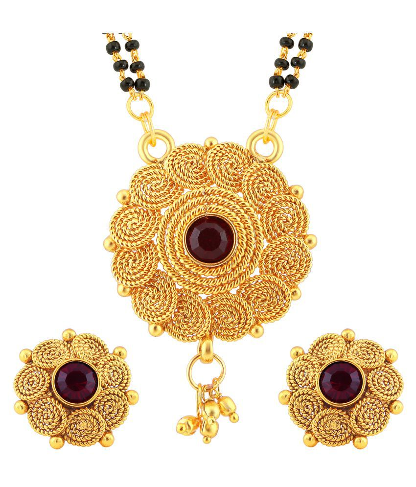 Sukkhi Classic Jalebi Design Gold Plated Mangalsutra Set for Women
