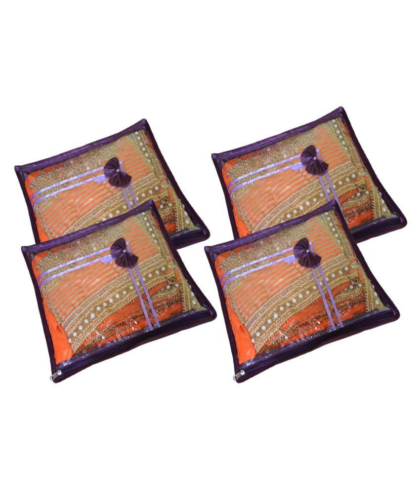 Aadhya Purple Saree Covers - 4 Pcs
