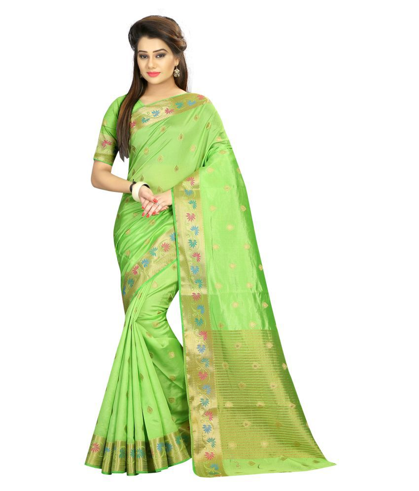 VastraParidhan Multicoloured Art Silk Saree