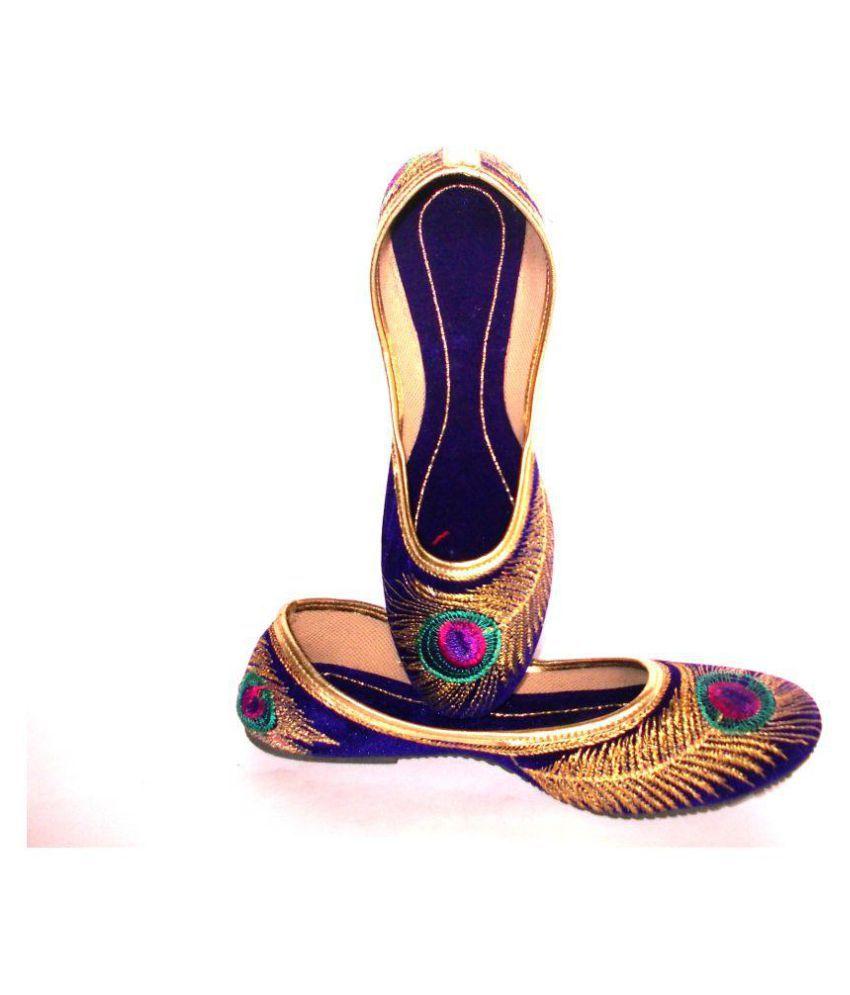 MAA VD Blue Flat Ethnic Footwear