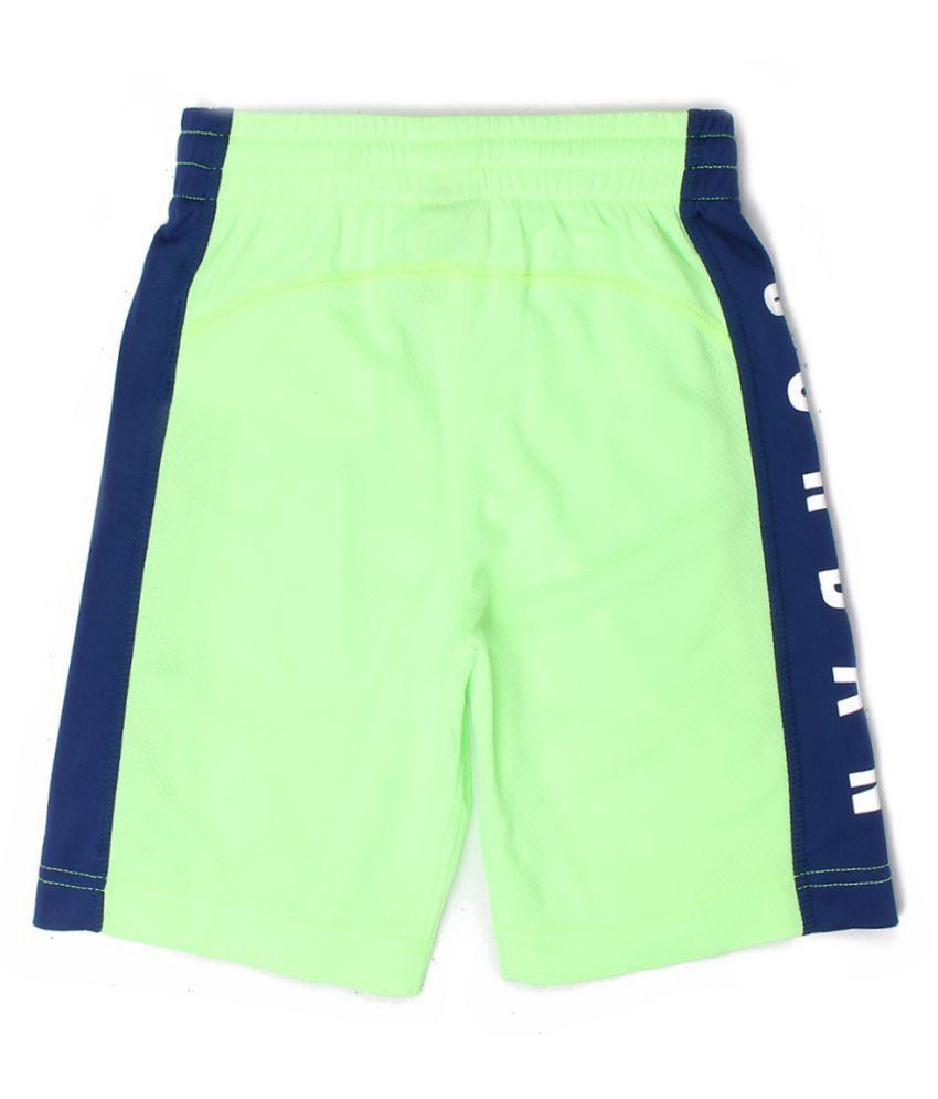 Jordan Boys Green Solid Shorts