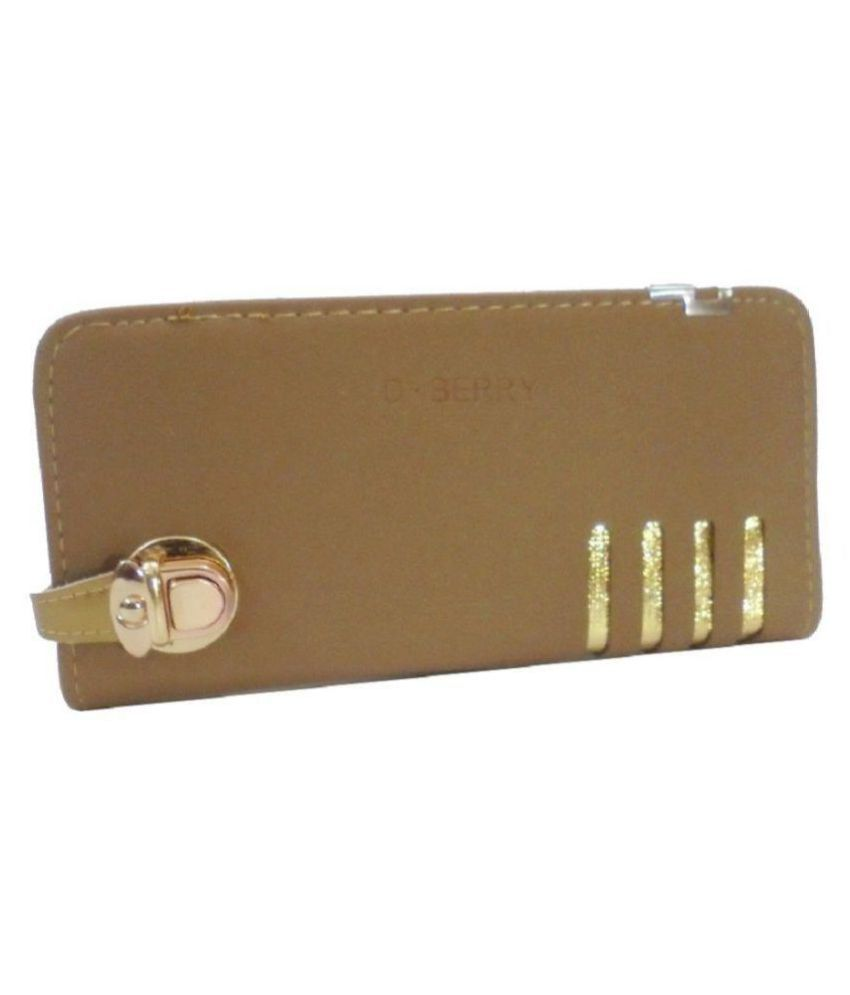 Forxy Designer collection Gold Faux Leather Handheld