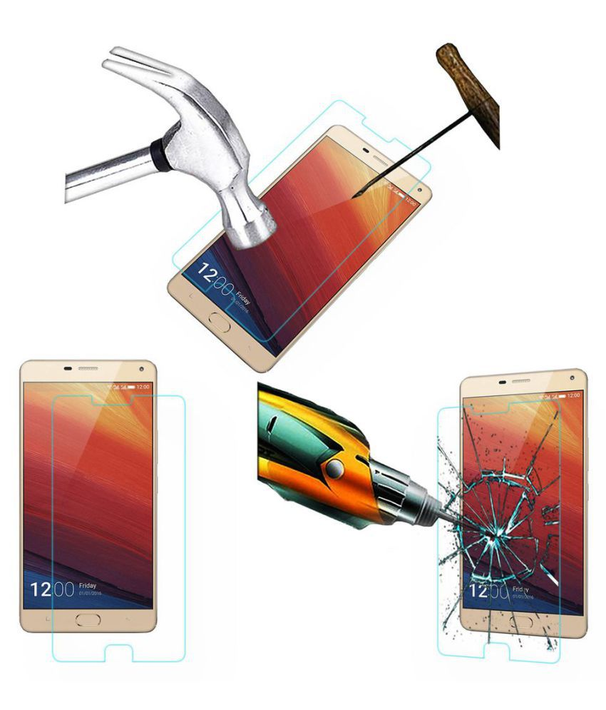 Gionee Marathon M5 Plus Tempered Glass Screen Guard By Robux 4D