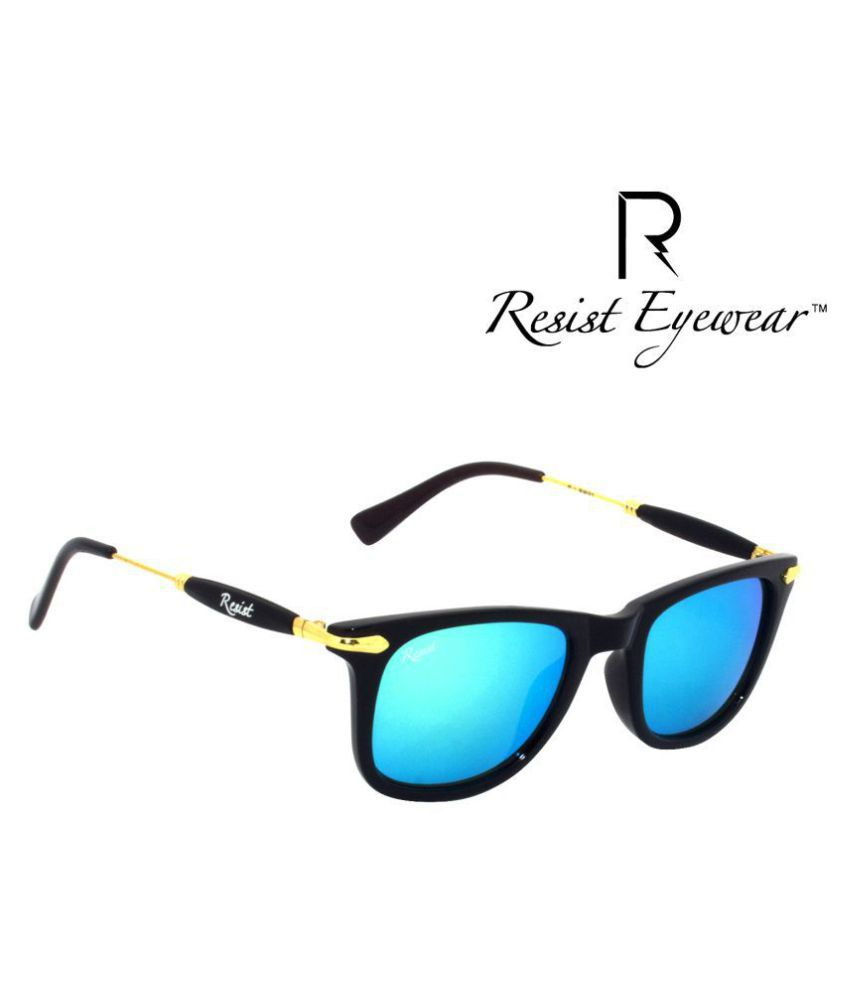 Resist Ocean Blue Wayfarer Sunglasses ( RE-GW-R02 )