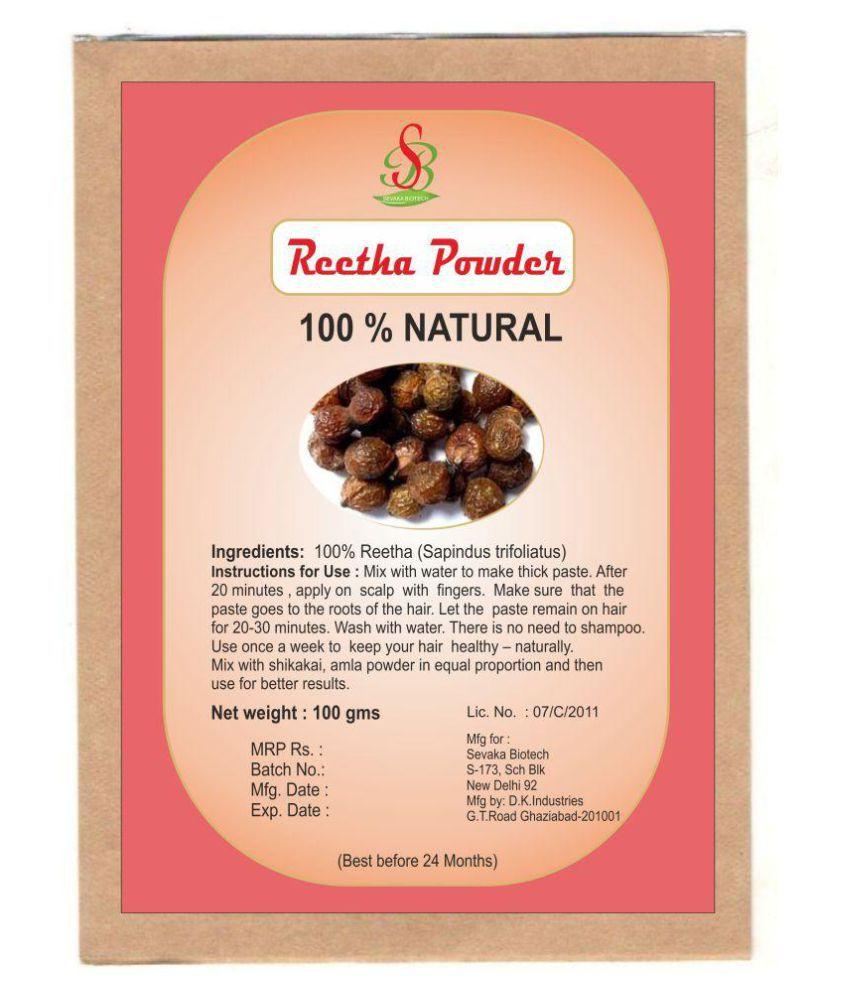 Sevaka Biotech Reetha Powder 100 gm Semi Permanent Hair Color Black 100 gm