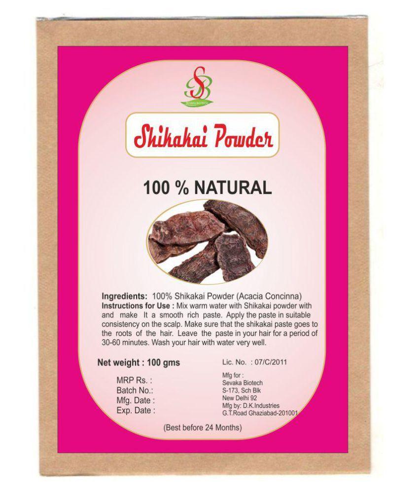 Sevaka Biotech Shikakai Powder Semi Permanent Hair Color Black 100 gm