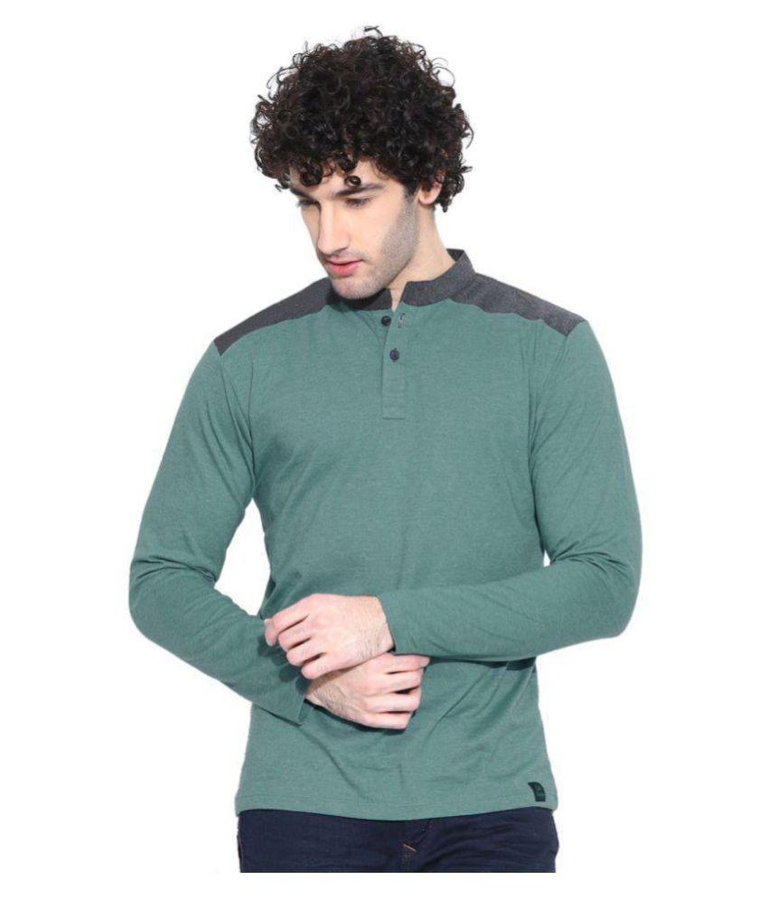 Cult Fiction Green Henley T-Shirt