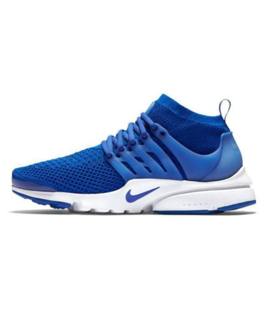 ... Nike Air Presto Flyknit Blue Running Shoes ...